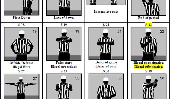 Offizielle Flag Football Signale